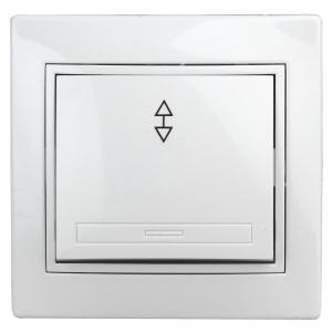 1-103-01 Intro Переключатель, 10А-250В, IP20, СУ, Plano, белый (10/200/2400)