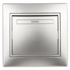 1-101-03 Intro Выключатель, 10А-250В, IP20, СУ, Plano, алюминий (10/200/2400)