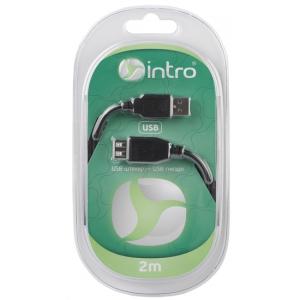 USB 2004101 Кабели СТМ Intro USB 2.0, штекер-гнездо, длина-2м (20/40/800)