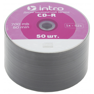 Intro СD-R INTRO 52X 700MB  Shrink 50 (50/500/22500)