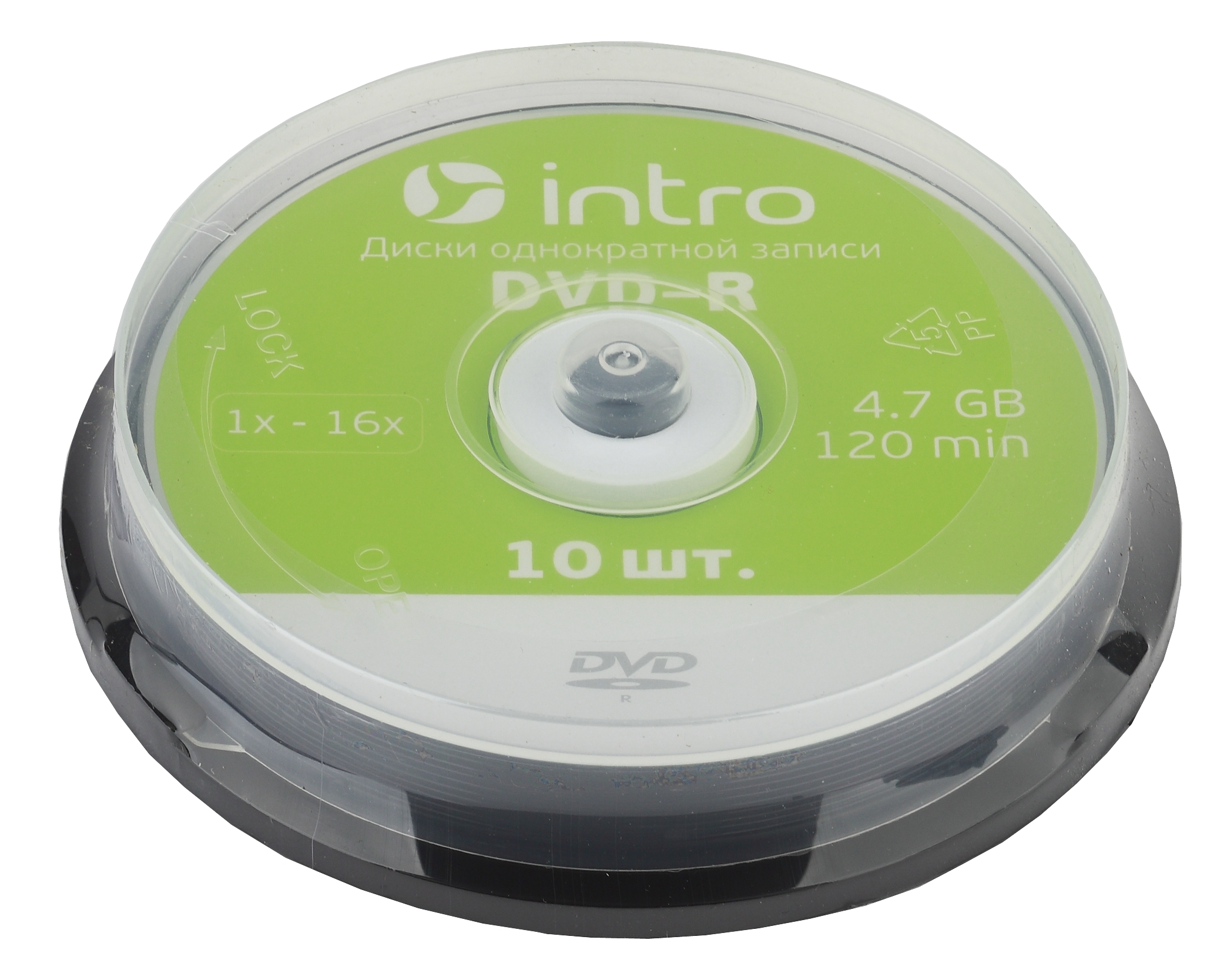 Intro DVD-R INTRO 16X 4,7GB Cakebox 10 (10/300/10800)